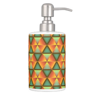 Honeycomb sample such as diamonds soap dispenser and toothbrush holder