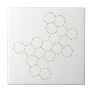 Honeycomb simplified geometric pattern design tile