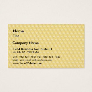 Honeycomb Template For Bees To Work On Business Card