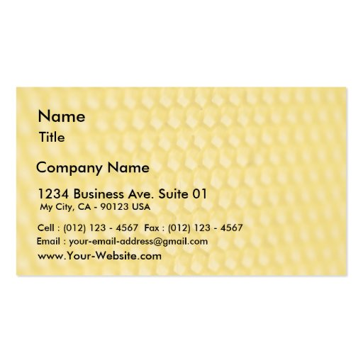 Honeycomb Template In Angle Business Cards