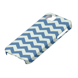 Honeydew Green and Blue Chevron Pattern iPhone 5 Cases
