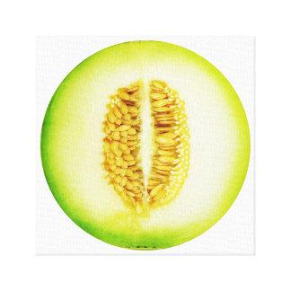 Honeydew Melon Slice Fruit Art Canvas Print