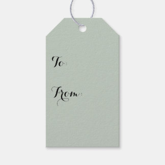 Honeydew Solid Color Gift Tags
