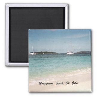 Honeymoon Beach, St. John Square Magnet