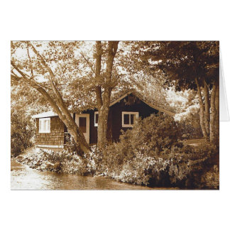 Honeymoon cottage card