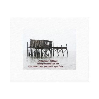 Honeymoon Cottage - Steampunk Landing Canvas Print