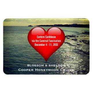 Honeymoon Cruise Cabin Door Marker Heart Ocean Magnet
