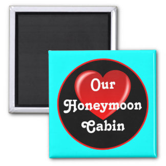 Honeymoon Cruise Cabin Door Marker sq Magnet