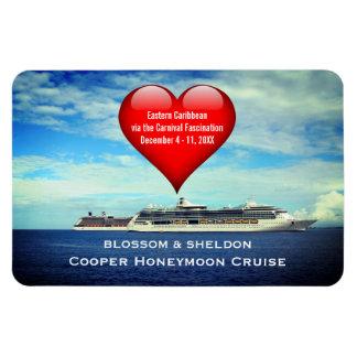 Honeymoon Cruise Ship Cabin Door Marker Heart Magnet