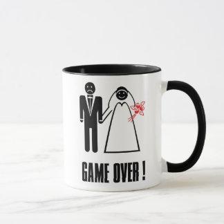 Honeymoon Engagement Wedding Mug Gift Game Over