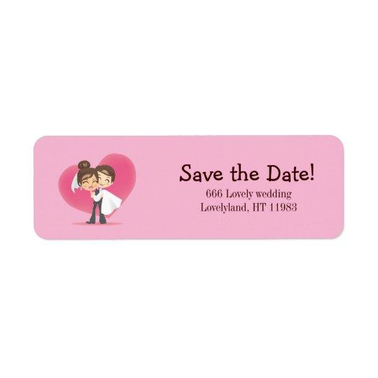 Honeymoon Love Return Address Label