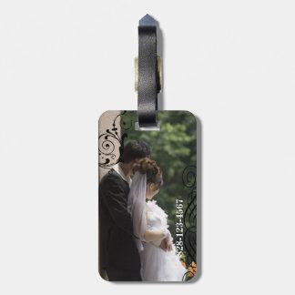 Honeymoon Personalized Photo Luggage Tag