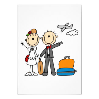 Honeymoon Time for the Bride and Groom Card