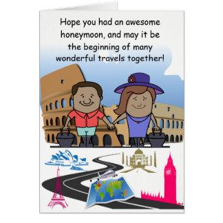 Honeymoon Welcome Back Custom Card