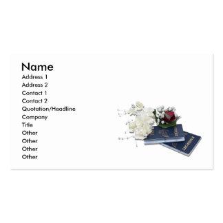 HoneymoonAbroad101610, Name, Address 1, Address... Pack Of Standard Business Cards
