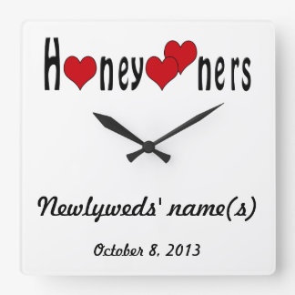 Honeymooners - Personalized with Name and Date Clocks