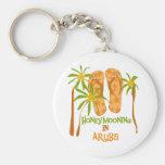 Honeymooning in Aruba Keychain