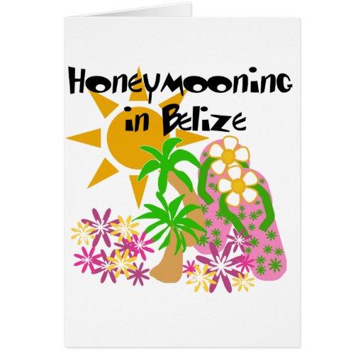 Honeymooning in Belize Card