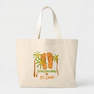Honeymooning in St. Lucia Jumbo Tote Bag