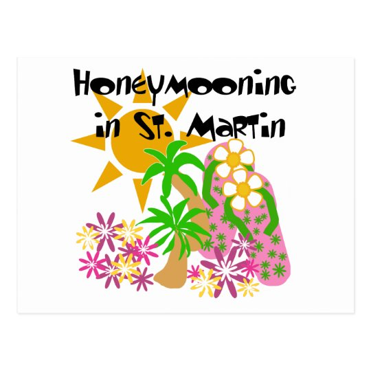 Honeymooning in St. Martin Postcard