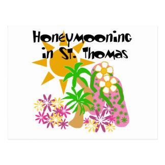 Honeymooning in St. Thomas Post Card