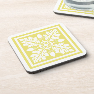 Honeysuckle Acorn and Leaf Tile Design Coaster