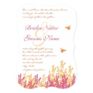 "Honeysuckle & Beeswax Wild Flower Wedding Invites 5"" X 7"" Invitation Card"