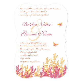 Honeysuckle & Beeswax Wild Flower Wedding Invites