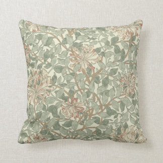 Honeysuckle Floral Wallpaper William Morris Cushion
