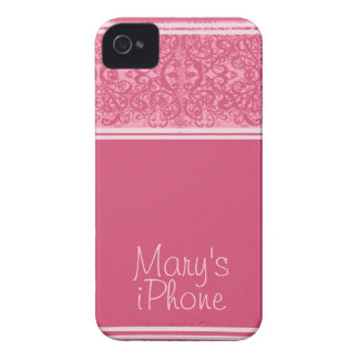 Honeysuckle Pink Personalized iPhone 4/4S Case