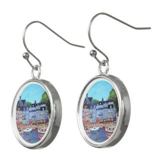 Honfleur Harbor, Drop Earrings