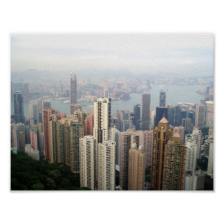 "Hong Kong 11"" x 8.5"", Value Poster Paper (Matte)"