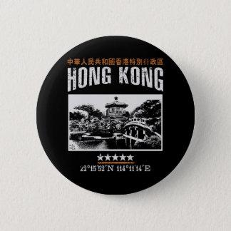 Hong Kong 6 Cm Round Badge