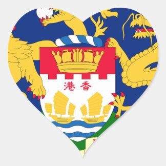 Hong Kong Autonomy Movement Flag Heart Sticker