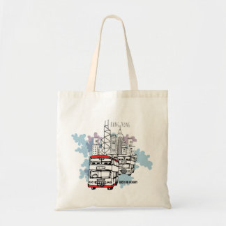 Hong Kong Busy Life Style scenery Tote Bag