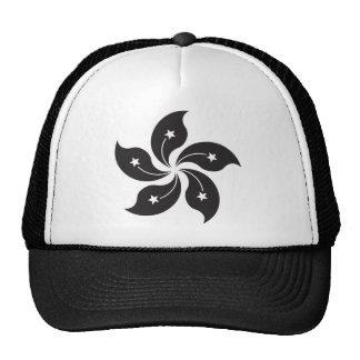 Hong Kong China Flag - Black Cap
