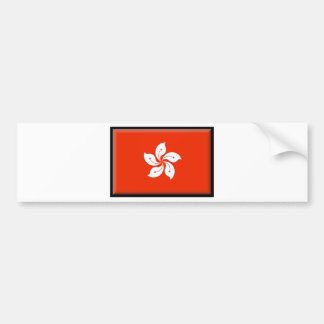 Hong Kong (China) Flag Bumper Sticker
