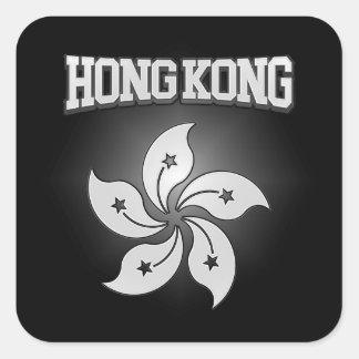 Hong Kong Coat of Arms Square Sticker
