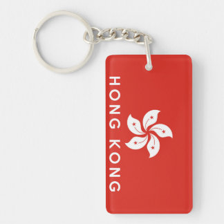 hong kong country flag symbol name text key ring