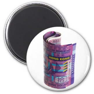 Hong Kong currency rolled Magnet