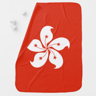 Hong Kong Flag Baby Blanket