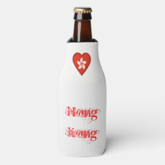 Hong Kong Flag Bottle Cooler