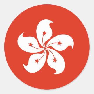 Hong Kong Flag Classic Round Sticker