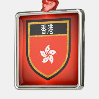 Hong Kong Flag Metal Ornament