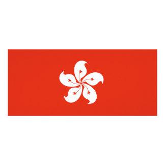 Hong Kong Flag Rack Card