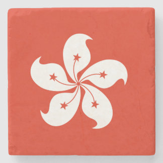 Hong Kong Flag Stone Coaster