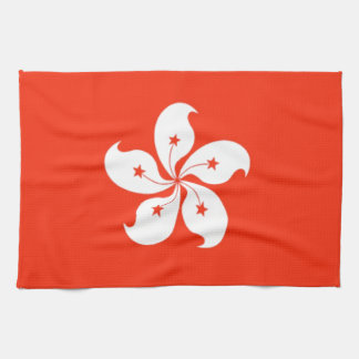 Hong Kong Flag Tea Towel