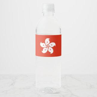 Hong Kong Flag Water Bottle Label