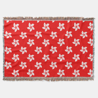 Hong Kong Flag White Orchid on Red