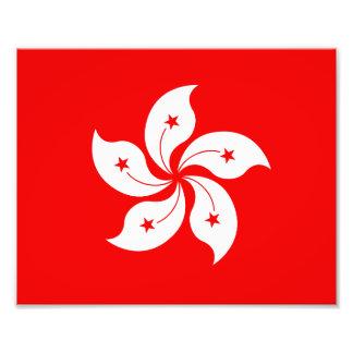 Hong Kong Flag White Orchid Symbol Photo